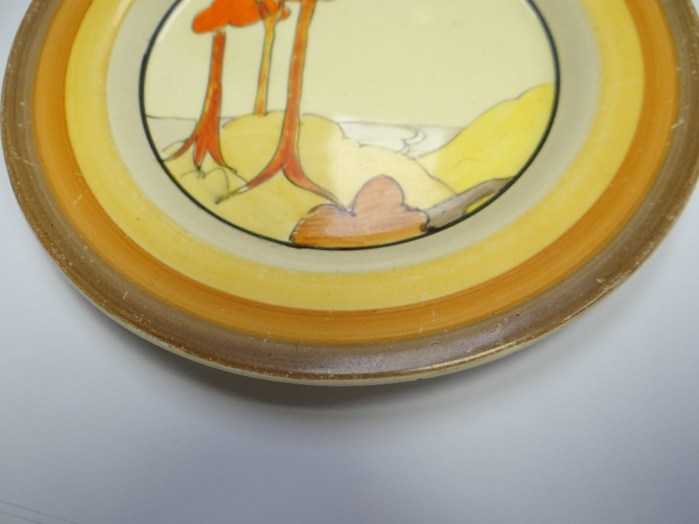 THREE CLARICE CLIFF ITEMS comprising 'Forest Glen' preserve jar & cover, 7.5cms high; 'Coral Firs' - Image 23 of 40