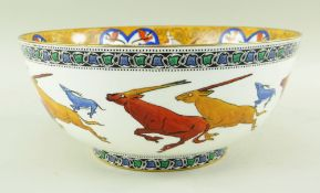 DAISY MAKEIG-JONES FOR WEDGWOOD a fine and exceptionally rare 'Leaping Chamois' lustre imperial
