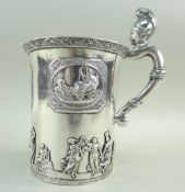 LARGE RUSSIAN ROYAL PRESENTATATION NEOCLASSICAL SILVER CUP, St Petersburg 1831, makers mark PM