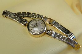 JAEGER LECOULTRE LADIES 9CT GOLD BRACELET WATCH, c. 1950s, Swiss manual wind movement with crown
