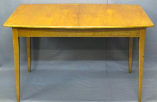 MID-CENTURY TEAK EXTENDING DINING TABLE by Sutcliffe of Todmorden - 77cms H, 127cms L, 90cms W