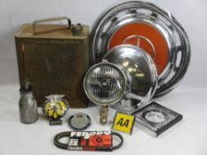 AUTOMOBILIA - mixed group of collectables including a Shellmex Motor Fuel can with screw on lid,