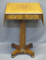GEORGIAN MAHOGANY TWIN-FLAP OCCASIONAL TABLE - the moulded edge top over two opening and two dummy