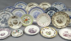 COLLECTION OF NINETEEN VARIOUS SWANSEA CAMBRIAN POTTERY PLATES (19) Comments: please view in