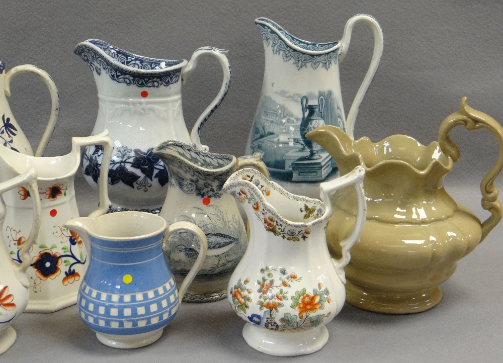ASSORTED LLANELLY JUGS including 'Ivy Wreath' transfer, Gaudy Welsh-style ETC Comments: please - Image 2 of 3