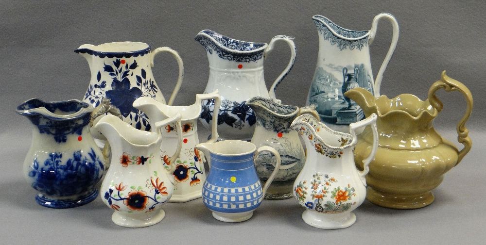 ASSORTED LLANELLY JUGS including 'Ivy Wreath' transfer, Gaudy Welsh-style ETC Comments: please