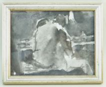 GORDON STUART inkwash - life study, signed, 17 x 22cms NB: Located for viewing / collection at