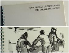 JOSEF HERMAN OBE RA bound volume of 'Fifty Drawings from the Roland Collection', published and