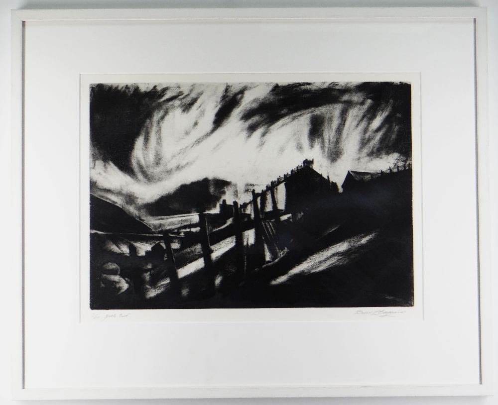 DAVID CARPANINI limited edition (11/20) etching - south Wales street, title to margin 'Gable End', - Image 2 of 2