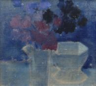 GORDON STUART oil on canvas - still life of flowers in a jug and another vessel, signed, 29 x