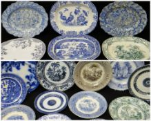 ASSORTED YNYSMEUDWY POTTERY PLATTERS & PLATES Comments: please view in person to examine condition