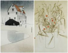 IOLA SPAFFORD two limited edition (37/100) & (21/75) colour etchings - title in pencil to margin '