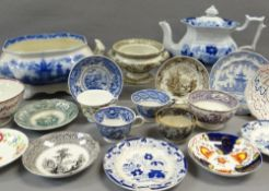 NINETEEN ITEMS OF ASSORTED WELSH TRANSFER POTTERY (19) Comments: please view in person to examine