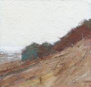 GORDON STUART oil on board - landscape, untitled, unsigned, 36 x 37cms NB: Located for viewing /