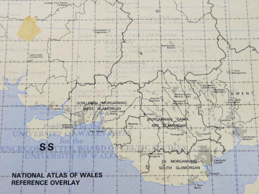 ATLAS CENEDLAETHOL CYMRU (THE NATIONAL ATLAS OF WALES) edited by Emeritus Professor H Carter in a - Image 6 of 17