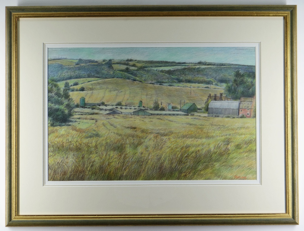 GLYN GRIFFITHS pencil and watercolour - landscape, entitled verso on Albany Gallery label, 'High