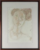 GORDON STUART watercolour and pencil - head and shoulders portrait, signed and dated 2012, 39 x
