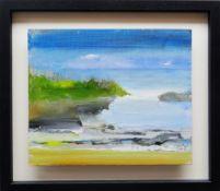 RICHARD O'CONNELL oil on board - coastal scene, entitled verso 'The Cove', signed verso, 25 x
