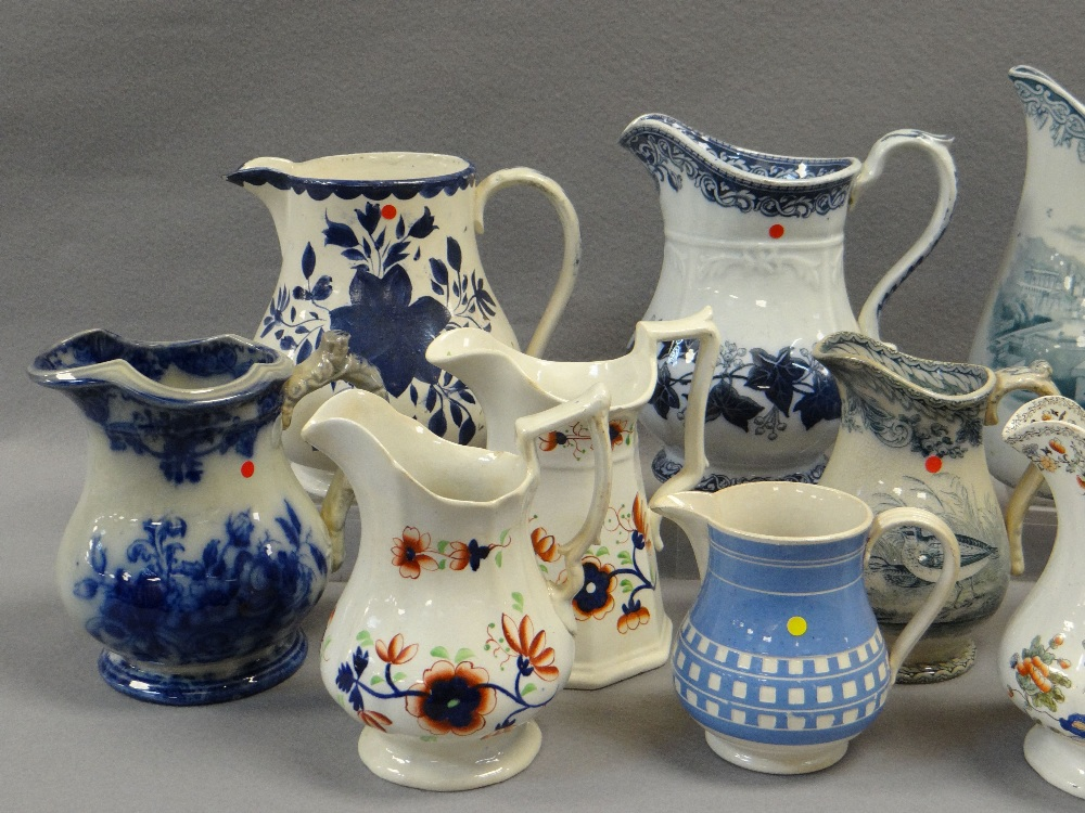 ASSORTED LLANELLY JUGS including 'Ivy Wreath' transfer, Gaudy Welsh-style ETC Comments: please - Image 3 of 3