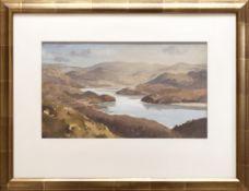 GARETH THOMAS watercolour - Eryri landscape, entitled verso by artist hand 'Mawddach Estuary,