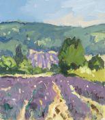 GARETH THOMAS oil on board - French landscape, signed, unframed, 28.5 x 25cms