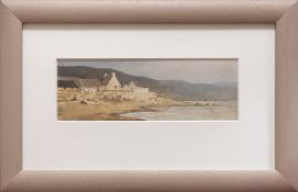 GARETH THOMAS watercolour - French coastal scene, entitled verso 'Fishing Village near Roscoff',