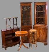 VINTAGE & REPRODUCTION FURNITURE PARCEL, seven items to include a neat reproduction mahogany glass