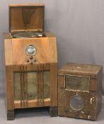 VINTAGE WALNUT CASED VALVE RADIOS (2) - both having Bakelite knobs, the larger radio dial marked '