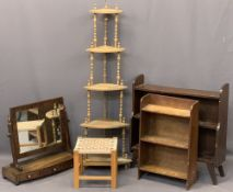 ANTIQUE & LATER OCCASIONAL FURNITURE, 5 ITEMS to include a Regency mahogany swing toilet mirror with