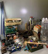 FERM PILLAR DRILL, Bosch blower, Evolution 12ins electric disc cutter for concrete, stone and brick,
