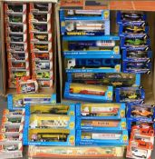 DIECAST MODEL VEHICLES - Tesco boxed transporters and Matchbox 'Hero City' and others, approximately