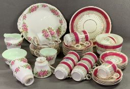 PARAGON TEAWARE - 'Six World Famous Roses - Percy Thrower', approximately eighteen pieces also other