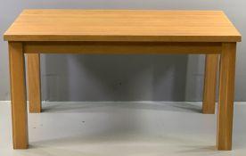 OAK DINING TABLE - modern, oblong, 79cms H, 150cms W, 90cms D