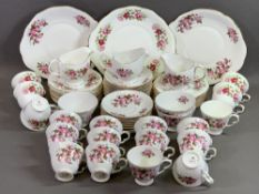 CHINA - Queen Anne 'Pink Rose' tea and tableware, approximately thirty five pieces