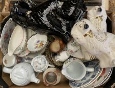 STAFFORDSHIRE DOGS, cabinet and display china including Aynsley, commemorative ETC