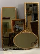MIRRORS (5) - various sizes of decorative and dressing mirrors
