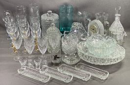 GLASSWARE - a large assortment including drinking, art glass vase and other quality glassware