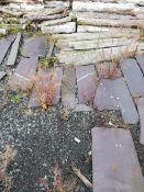 QUANTITY OF SLATE SLABS - 5ft x 2ft x 2ft the largest, approximately fifteen, plus others smaller,