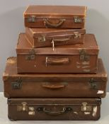 ANTLER & OTHER VINTAGE SUITCASES (5)
