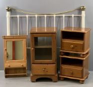 FURNITURE ASSORTMENT to include a pair of modern bedside tables, 44cms H, 46cms W, 38cms D, a wall