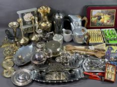EPNS - a good assortment including cutlery, also Picquot ware and brass items ETC