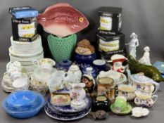 WEDGWOOD, COLCLOUGH and a very large assortment of other ornamental china, also Pyrex retro