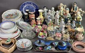 SYLVAC - Toby jugs, assorted figurines, collector's plates, a large assortment of ornamental china