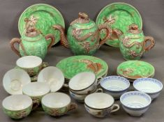 JAPANESE & OTHER TEAWARE including a dragon embossed quantity