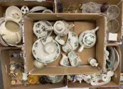 CHINA - Delft, various Staffordshire, glassware and teaware ETC - very large assortment in several