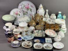JAPANESE TEAWARE, Aynsley 'Cottage Garden' and 'Pembroke' cabinet ware, an assortment of other