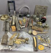 ASSORTED COLLECTABLES including 'V Acme Scoutmaster' whistle, bosun's whistle, military buttons,