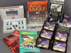 DIECAST MODEL VEHICLES - Corgi, bubble packed 'Fighting Machines', also Britain's boxed soldiers -