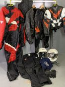 MOTORCYCLE INTEREST - quantity of leathers, other clothing and helmets