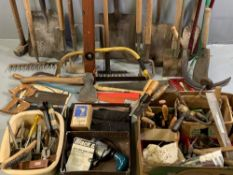 TOOLS - a large assortment of good hand tools and associated items